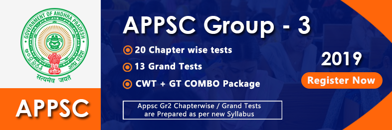 APPSC Group 3/PS Online Mock / Chapter wise / Grand Test Series